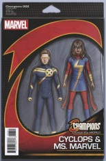 Champions (2016) #3 Variant B: Action Figure Variant Cover