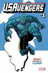 U.S. Avengers #1 Variant Q: Illinois State Variant