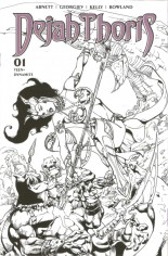 Dejah Thoris (2019-2020) #1 Variant X: 7 Copy Incentive Black & White Cover