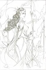 Dejah Thoris (2019-2020) #1 Variant F: 10 Copy Incentive Pencil Sketch Cover