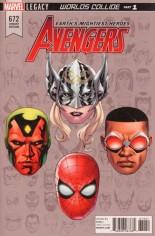 Avengers (2017-2018) #672 Variant E: Legacy Headshot Variant