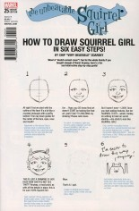 Unbeatable Squirrel Girl (2015-Present) #25 Variant B: How To Draw Variant