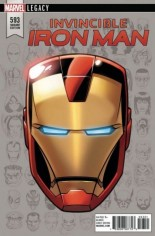 Invincible Iron Man (2017-Present) #593 Variant E: Legacy Headshot Variant
