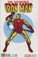 Invincible Iron Man (2017-Present) #593 Variant C: 1965 T-Shirt Variant