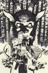 Hellboy Krampusnacht #1 Variant C: Sketch Variant