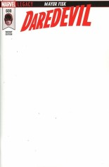 Daredevil (2017-2019) #600 Variant G: Blank Variant