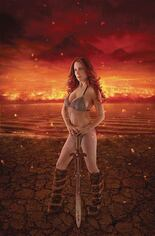 Red Sonja: Age Of Chaos (2020) #1 Variant ZD: Shannon Kingston Cosplay Photo Cover Signed