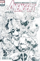 Avengers (2018-2020) #1 Variant H: Incentive Party Sketch Variant