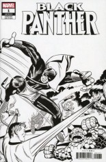 Black Panther (2018-2020) #1 Variant K: Kirby B&W Remastered Variant