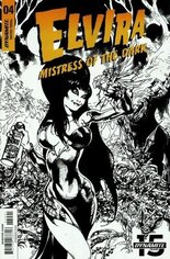 Elvira, Mistress of the Dark (2018-2020) #4 Variant G: 15 Copy B&W Foc Incentive