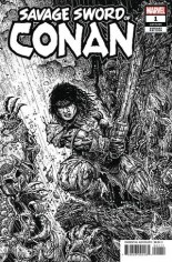 Savage Sword Of Conan (2019-2020) #1 Variant D: B&W Variant