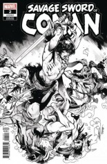 Savage Sword Of Conan (2019-2020) #2 Variant C: B&W Variant