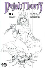 Dejah Thoris (2019-2021) #3 Variant H: 25 Copy Incentive Black & White Cover