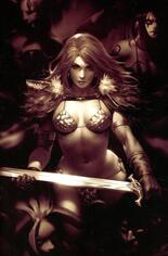 Red Sonja: Age Of Chaos (2020) #2 Variant V: Incentive Monochrome Virgin Cover