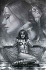 Red Sonja: Age Of Chaos (2020) #2 Variant W: Incentive Black & White Virgin Cover