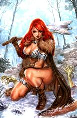 Red Sonja: Age Of Chaos (2020) #3 Variant T: 25 Copy Incentive Virgin Cover