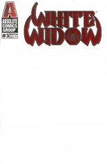 White Widow #3 Variant P: Kickstarter Blank Red Foil Edition
