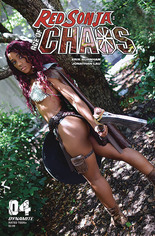 Red Sonja: Age Of Chaos (2020) #4 Variant E: Vanta Black Cosplay Photo Cover