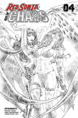 Red Sonja: Age Of Chaos (2020) #4 Variant S: 7 Copy Incentive Sketch Cover