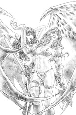 Red Sonja: Age Of Chaos (2020) #4 Variant T: 11 Copy Incentive Sketch Virgin Cover