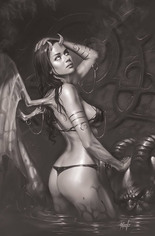 Red Sonja: Age Of Chaos (2020) #4 Variant U: 15 Copy Incentive Black & White Virgin Cover