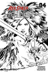 Red Sonja: Age Of Chaos (2020) #4 Variant X: 35 Copy Incentive Black & White Cover