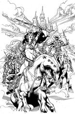 Dejah Thoris (2019-2021) #6 Variant N: Incentive Black & White Virgin Cover