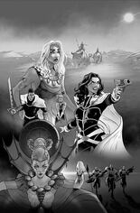 Dejah Thoris (2019-2021) #6 Variant O: Incentive Black & White Virgin Cover