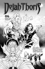 Dejah Thoris (2019-2021) #6 Variant H: Incentive Black & White Cover