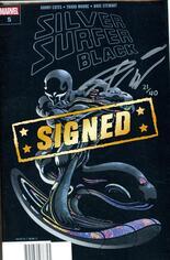 Silver Surfer Black (2019) #5 Variant G: DF Signed By Donny Cates