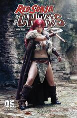 Red Sonja: Age Of Chaos (2020) #5 Variant E: Margherita Sabattini Cosplay Photo Cover