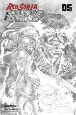 Red Sonja: Age Of Chaos (2020) #5 Variant H: 25 Copy Incentive Black & White Cover