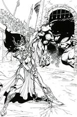Dejah Thoris (2019-2020) #7 Variant N: Incentive Black & White Virgin Cover