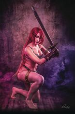 Red Sonja: Age Of Chaos (2020) #6 Variant I: 30 Copy Incentive Klaudia Bloom Cosplay Photo Virgin Cover