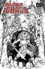 Red Sonja: Age Of Chaos (2020) #6 Variant O: 35 Copy Incentive Black & White Cover