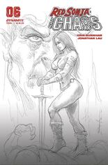 Red Sonja: Age Of Chaos (2020) #6 Variant J: 40 Copy Incentive Black & White Cover