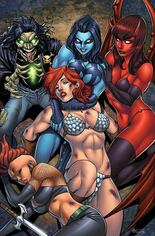 Red Sonja: Age Of Chaos (2020) #5 Variant N: Limited Edition Virgin Cover