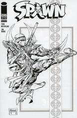 Spawn (1992-2020) #310 Variant D: Incentive Black & White Cover