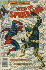 Web of Spider-Man (1985-1995) #108 Variant A: Newsstand Edition