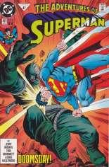 Adventures of Superman (1987-2006) #497 Variant C: 2nd Printing