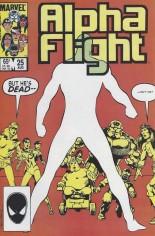 Alpha Flight (1983-1994) #25 Variant B: Direct Edition