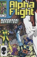 Alpha Flight (1983-1994) #26 Variant B: Direct Edition