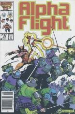 Alpha Flight (1983-1994) #34 Variant A: Newsstand Edition
