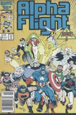 Alpha Flight (1983-1994) #39 Variant A: Newsstand Edition