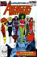 Avengers West Coast (1989-1994) #Annual 4 Variant B: Direct Edition