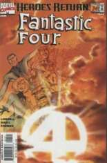 Fantastic Four (1998-2011) #1 Variant B: Sunburst Variant Cover