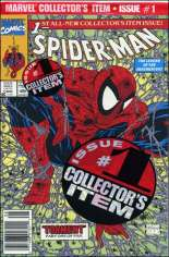 Spider-Man (1990-1998) #1 Variant B: Newsstand Edition; Green Cover; Polybagged