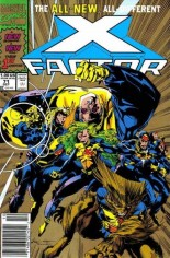 X-Factor (1986-1998) #71 Variant C: 2nd Printing; Gold Cover
