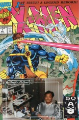 X-Men (1991-2001, 2004-2008) #1 Variant J: Wolverine/Cyclops/Iceman Cover; Comics X-Press Signed Edition; Signed by Jim Lee