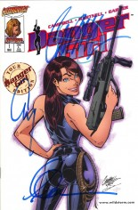 Danger Girl (1997-2001) #1 Variant F: Tour Edition; Signed by J. Scott Campbell, Alex Garner & Andy Hartnell